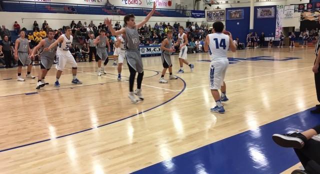 Macon County High School Boys Varsity Basketball beat Upperman High School 87-63