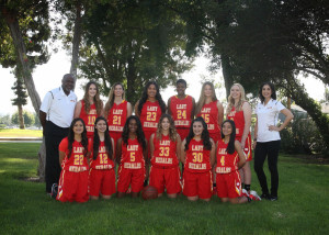 Varsity girls team pic outside