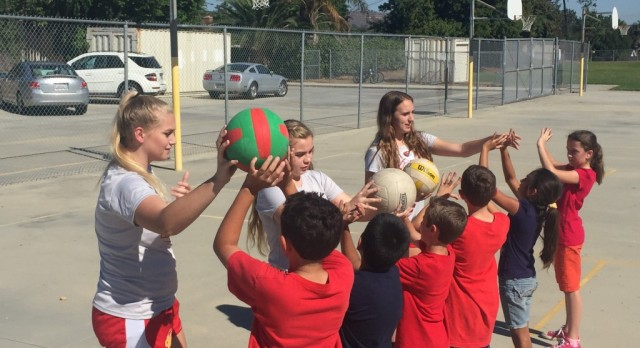 Herald Volleyball Clinic at local Elementary School