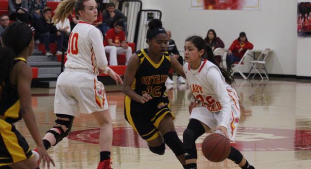 Whittier Christian High School Girls Varsity Basketball beat Ontario High School 50-44