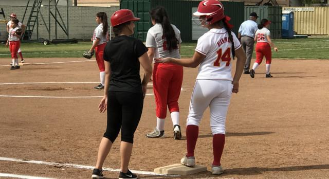 Whittier Christian High School Varsity Softball beat Mary Star Of The Sea High School 3-0