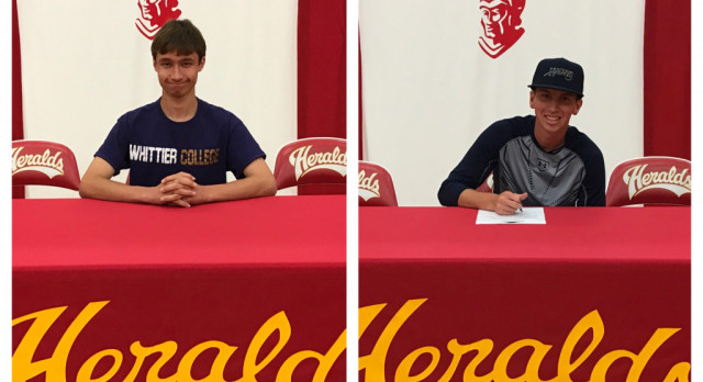 Ben White and Carl Hudson sign to play in College!