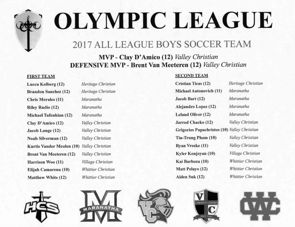 All League Boys Soccer