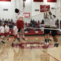 Boys Varsity Volleyball win over Heritage Christian