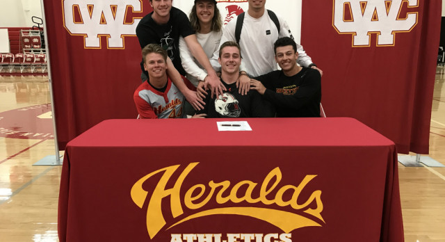 Herald Football Player Justin Osborn signs to Western State Colorado!