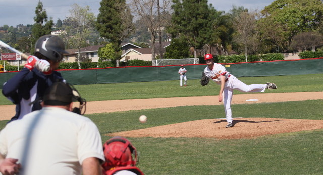 Whittier Christian High School Varsity Baseball beat Rowland High School 6-5