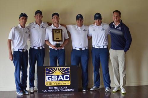 Former Herald Golfer Karsten Briley helps The Master's University to GSAC Conference Title!