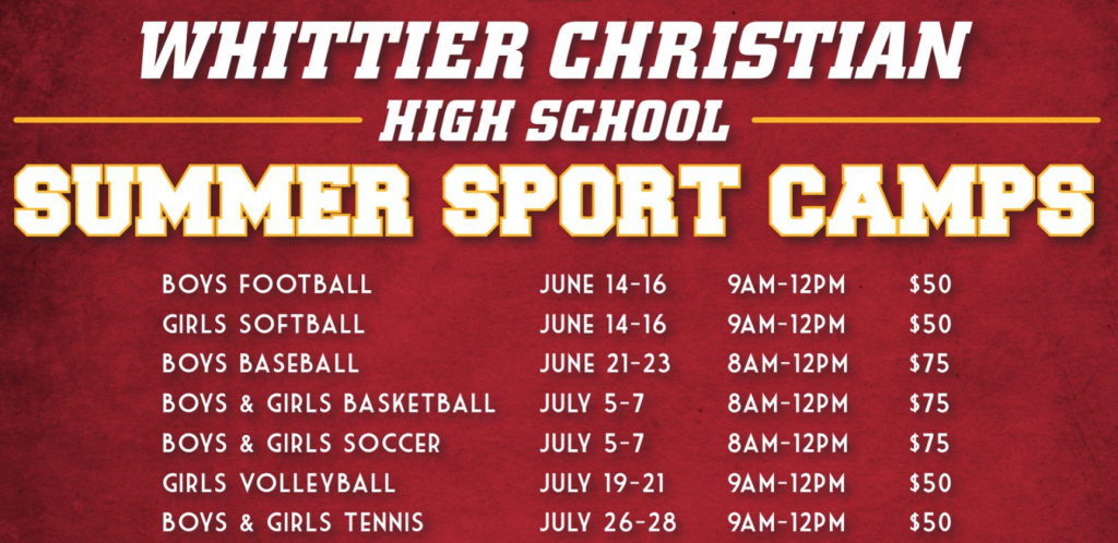 Summer Sport Camp dates and times
