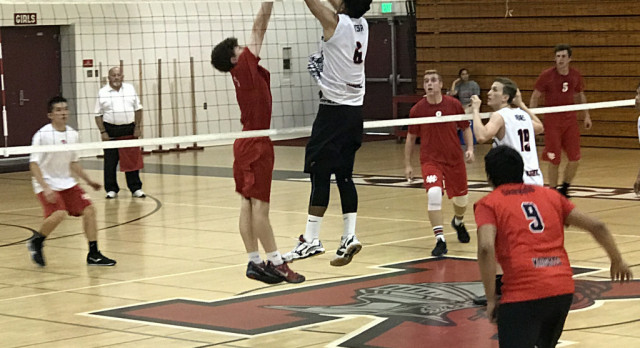 Whittier Christian High School Boys Varsity Volleyball falls to Katella High School 3-1