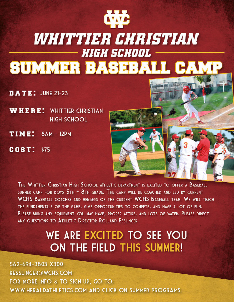 Herald Summer Baseball Youth Camp 2017