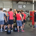 Herald Football Summer workout at NXTLVL Gym in La Habra
