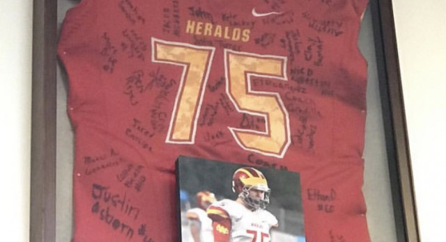 Heralds Playing for a Fallen Teammate in 2017
