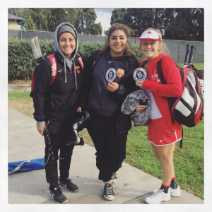 Tennis doubles team in CIF