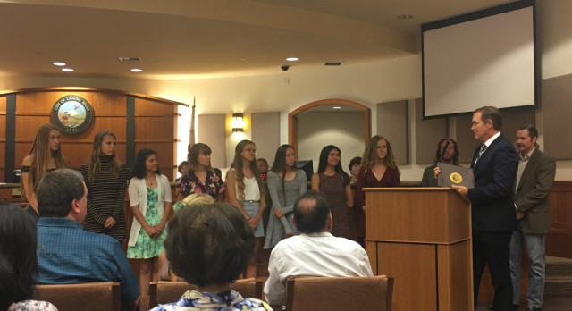 LH Girls Cross Country honored