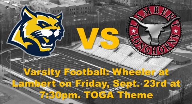 Varsity Football vs. Lambert HS