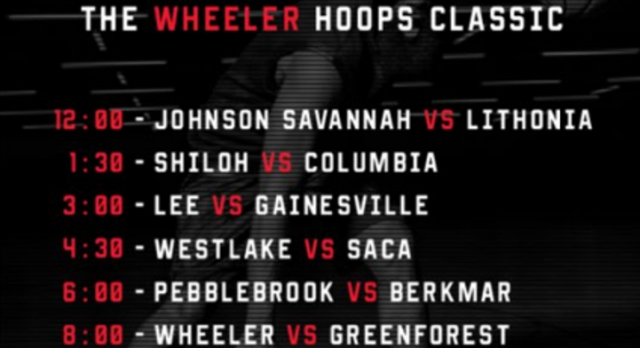 This Saturday Do Not Miss The Wheeler Hoops Classic