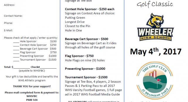 Wheeler Golf Classic – MAY 4TH
