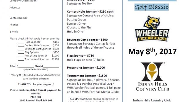 Wheeler Wildcats Golf Classic – May 8
