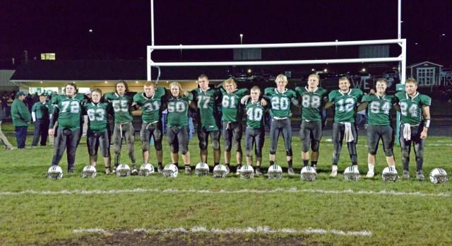 "Senior football players recognized on ""senior night"""