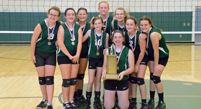 7th grade volleyball takes home WCAL Championship, and perfect season!