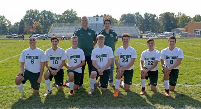 Boys soccer honored on senior day