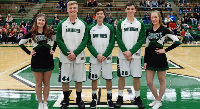 Cheerleading & Boys basketball seniors recognized