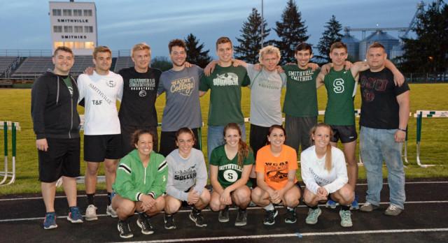 Track team celebrates Senior Night