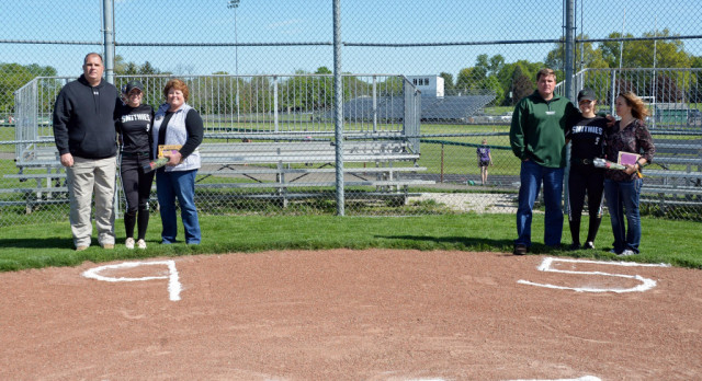 "Softball ""senior day"""