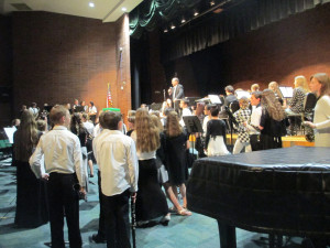 Mr. Flinders and the grand finale at the May Concert