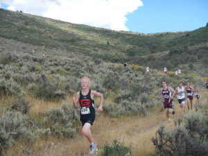 Koven chases Morgan and Grantsville down the last switchback