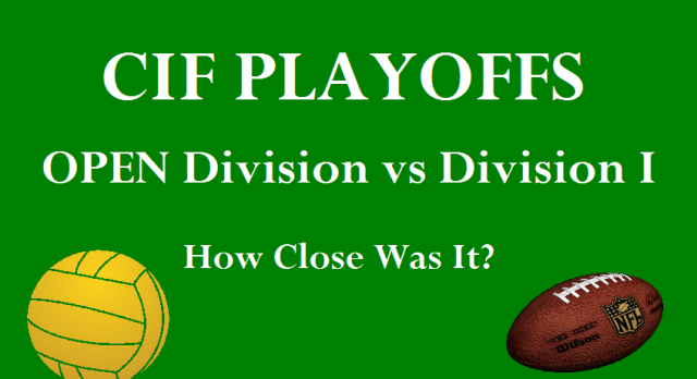 CIF Open vs Division I – Bubble Teams