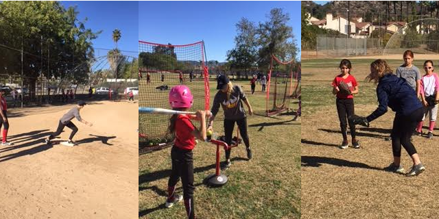 Girls Softball Provides Instruction as Community Service