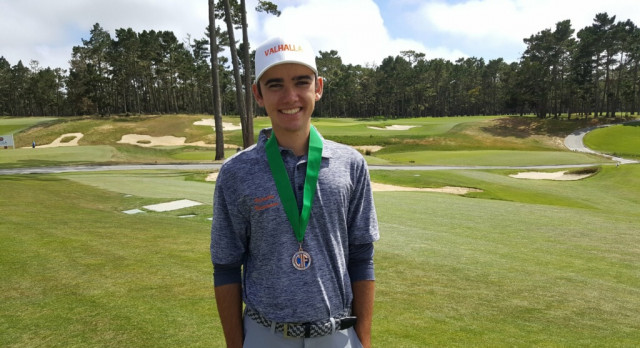 Cameron Sisk finishes State Championships at -3, Tied for 2nd Place.
