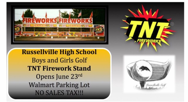 RHS Golf Team's Fireworks Stand Open for Business