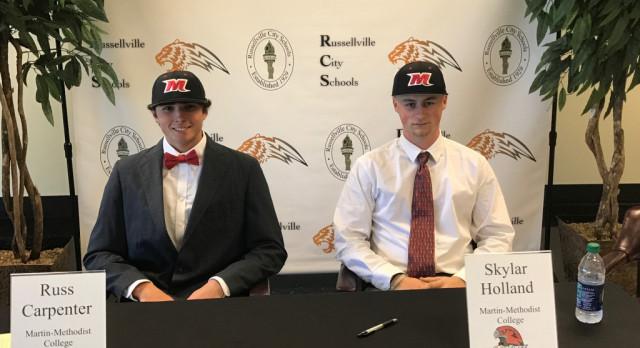 Carptenter, Holland Sign Baseball LOI to Martin Methodist