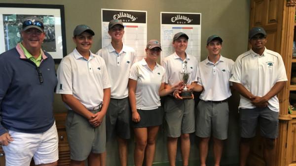 Hawks Golf Team with trophy
