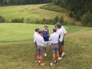 Golfers meet with Coach Hoy