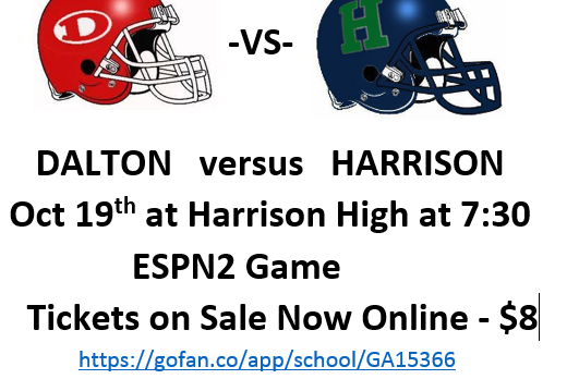Dalton vs Harrison —Thursday Night 7:30! ESPN2