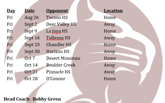2016 Football Schedule Released!!