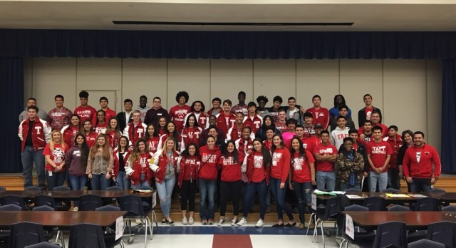 Raider Athletes Mentor Scarborough Students