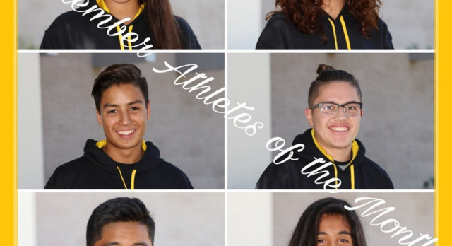 September 2017 Athletes of the Month