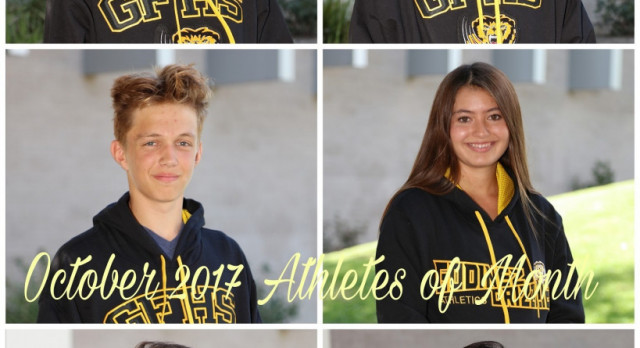 October 2017 Athletes of the Month