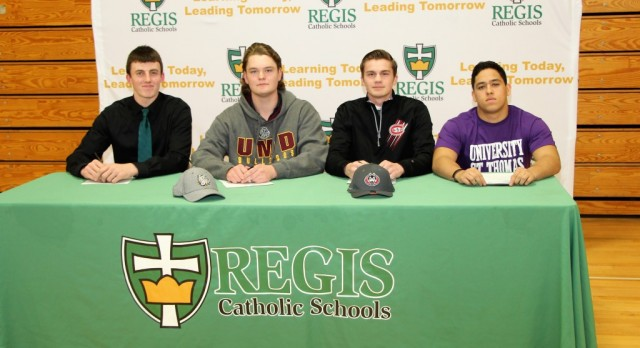 Four athletes sign Letters of Intent to play football at college level