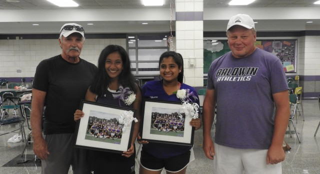 Baldwin High School Girls Varsity Tennis beat Woodland Hills High School 5-0