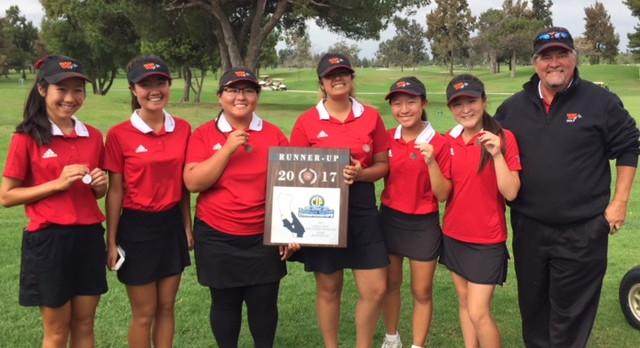 Girls' Golf Congrats  CIF Runner-Up