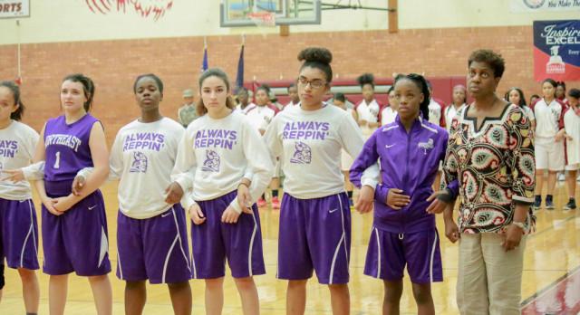 Northeast Senior High School Girls Varsity Basketball falls to KCK Washington 48-28