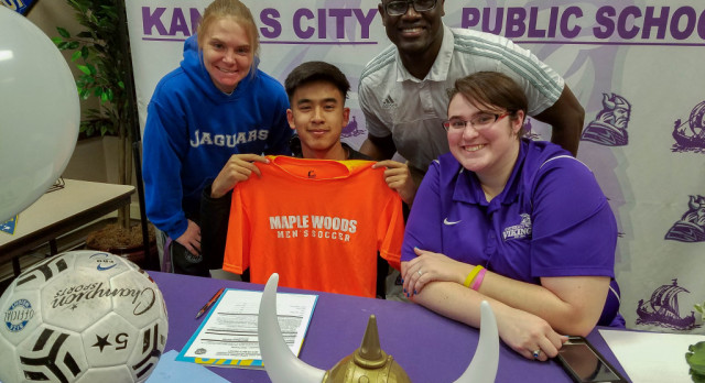 Northeast Boys Soccer star Mo Zaw signs with Maple Woods community college!!!!