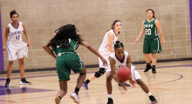 Northeast Senior High School Girls Varsity Basketball falls to East High School 58-31