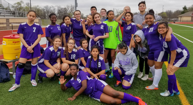 Soccer Lady vikings beat Southeast in overtime 4-3.
