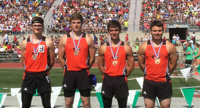 Boys 4 x 200 Relay 7th Place Finish at State Track Meet